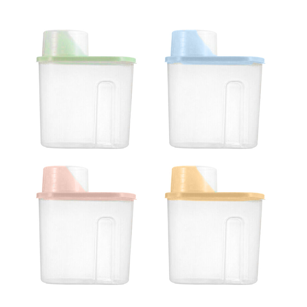 4pcs/set 1.9L Plastic Storage Box Cereal Dry Food Storage Container Transparent Leakproof Storage Bottle Kitchen Container
