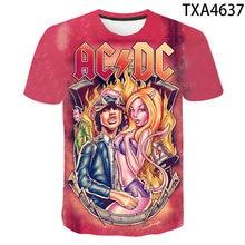 2020 New Summer 3D Printed T Shirts AC DC Casual Streetwear Boy Girl Kids Fashion Men Women Children Short Sleeve Tops Tee