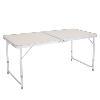 【US Warehouse】120 x 60 x 70 4Ft Portable Multipurpose Folding Table White