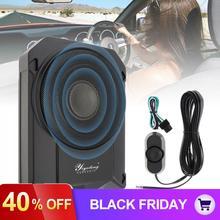 10 дюймов 600 Вт тонкий автомобильный аудио активный сабвуфер автомобильный динамик под сиденье бас стерео динамик аудио усилитель низкого искажения