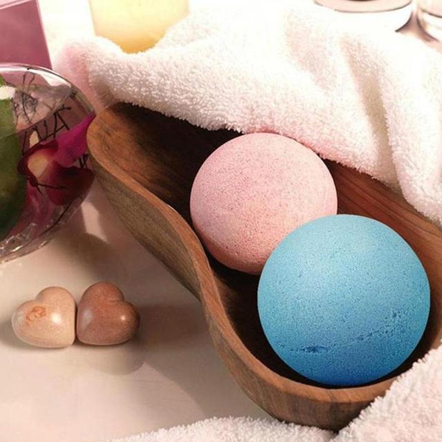 Handmade Bath Salt Bombs Small Size Hotel Bathroom Bath Ball Bomb Aromatherapy Type Body Cleaner Gift Random Color 2