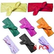 Muqgew модная детская заколка для волос Детские аксессуары для волос нейлоновая мягкая лента для волос 8 комплектов ювелирных изделий подарки Jy6