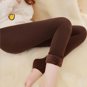 Image 4 - Autumn Winter Fashion Explosion Model Plus Thick Velvet Warm Seamlessly Integrated Inverted Cashmere Leggings Warm Pants