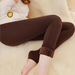 Image 4 - Pantalon chaud sans couture en cachemire inversé intégré, modèle Explosion mode automne et hiver, Plus épais en velours