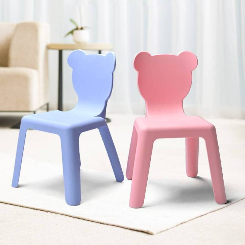 стулья для кухни Thick Bench Children Back Chair Baby Dining Seat Furniture Plastic Non-slip Small Chairs Household Stool Silla