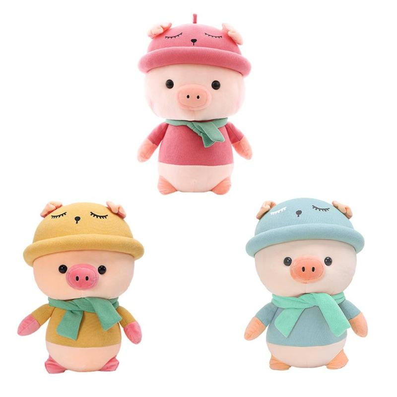 Cartoon Pig Doll Creative Stuffed Animal Pig Sleeping Toys Soft Pillow Lightweight For Home Decoration Gifts Festival Gifts