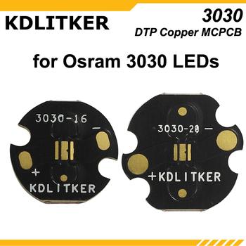 KDLITKER 3030-16 3030-20 DTP Copper MCPCB do diod led Osram 3030 tanie i dobre opinie Flashlight DIY for Osram 3030 LEDs 16mm 20mm (D) x 1 5mm (T)