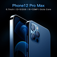 2021 nuovo schermo tacca globale da 6.7 pollici 12GB 512GB per Apple IPhone 12 Pro Max 5G Smartphone cellulare Samsung Huawei cellulare