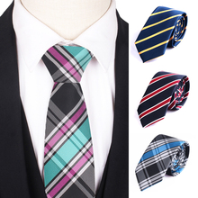 Striped Tie For Men Women Fashion Skinny Plaid Necktie Casual Neck ties Wedding Party Slim Girls Boys Ties Gravatas