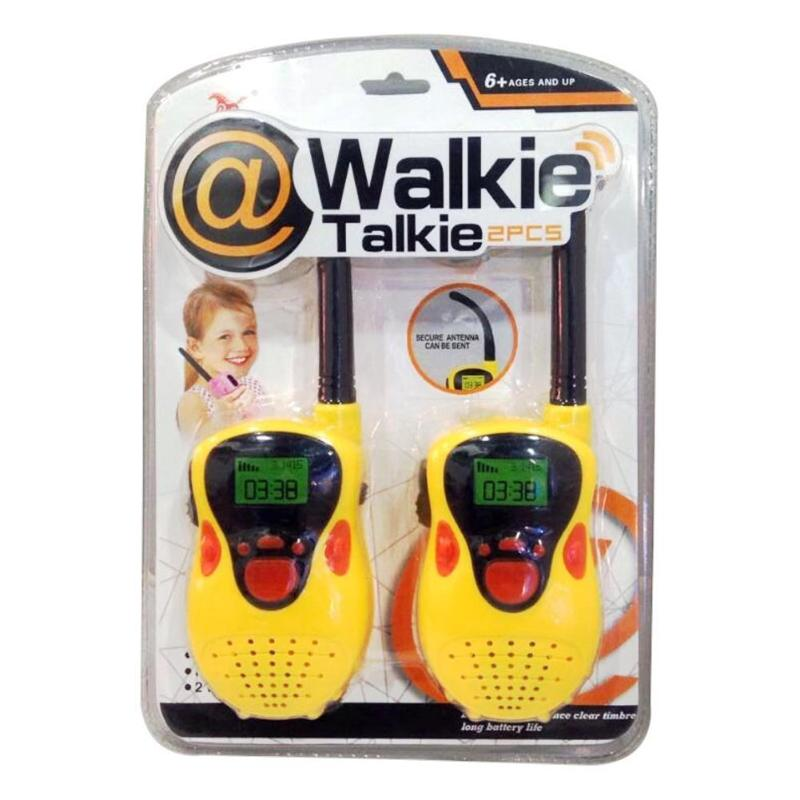 2pcs 80-100m Children Walkie Talkies Security Surface Abrasive Texture Handheld Radio Electronic Kids Educaton Toy