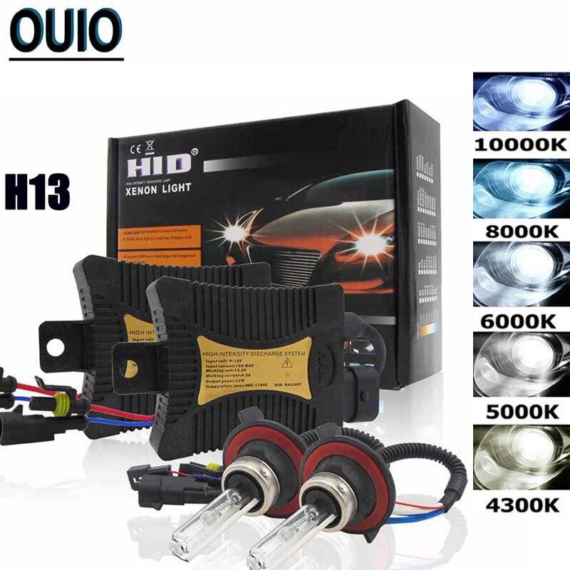 55W HID LX Xenon Kit Car Lights H1 H3 H4 H7 H8 H11 H13 9005 9006 9012 Source 4300K 6000K 8000K 10000K Automobile Headlight Bulbs