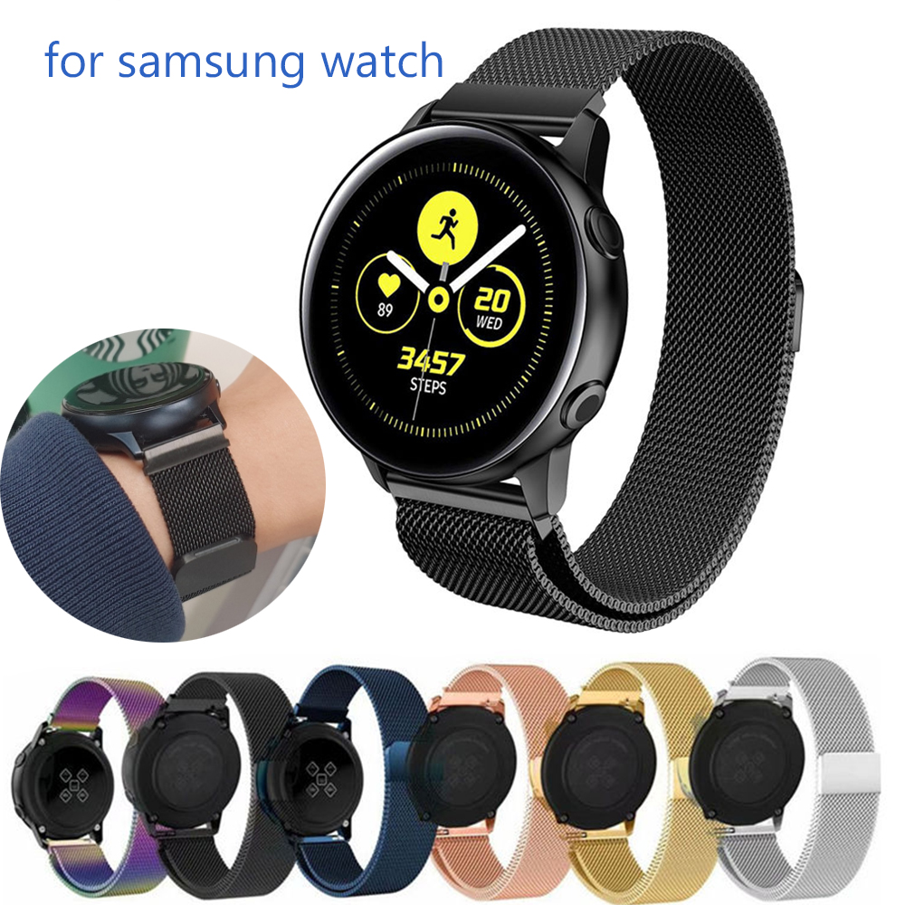Samsung Galaxy Watch Active 2 Milanese Strap For 46mm/42mm Gear S3 Frontier Band 22mm Stainless Steel Bracelet Active2 40mm 44mm