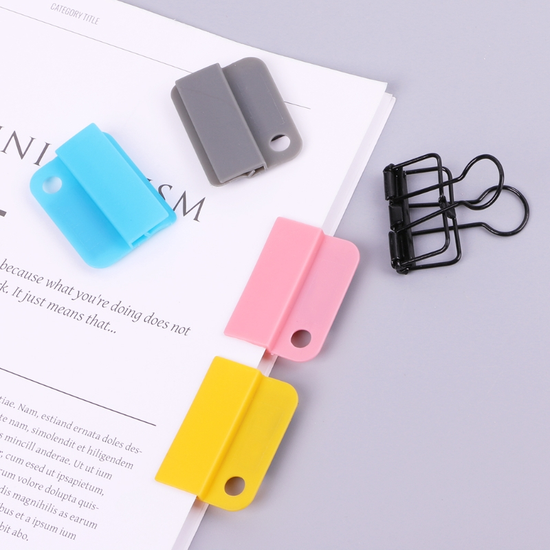 Creative Decorative Writing Photo Paper Clips Holder Memo Clip Kids Gifts LX9A
