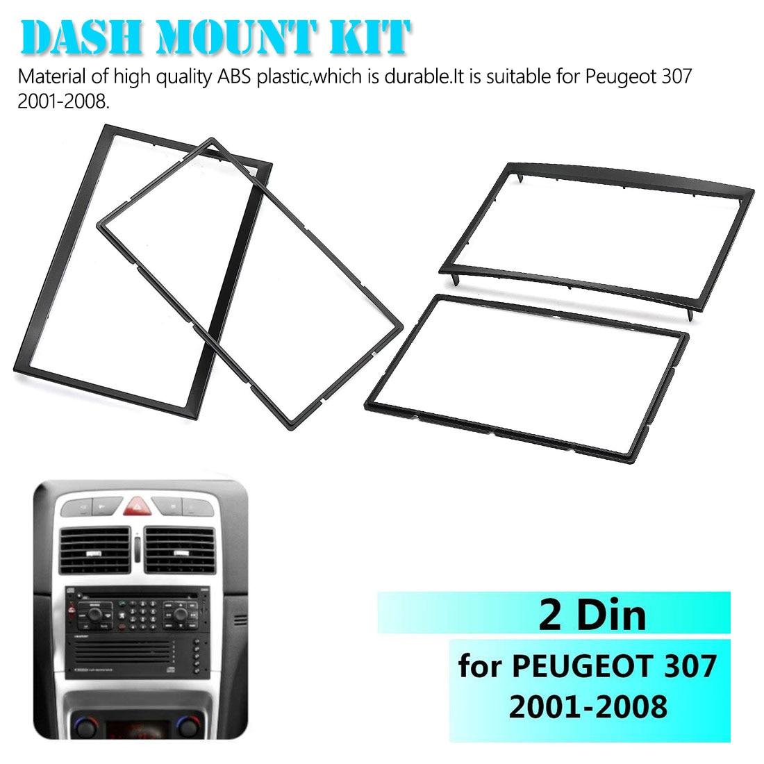 Авто 2 Din CD отделка Набор для крепления на приборную панель стерео радио фасции рама пластины панели адаптер для Peugeot 307 2001-2008