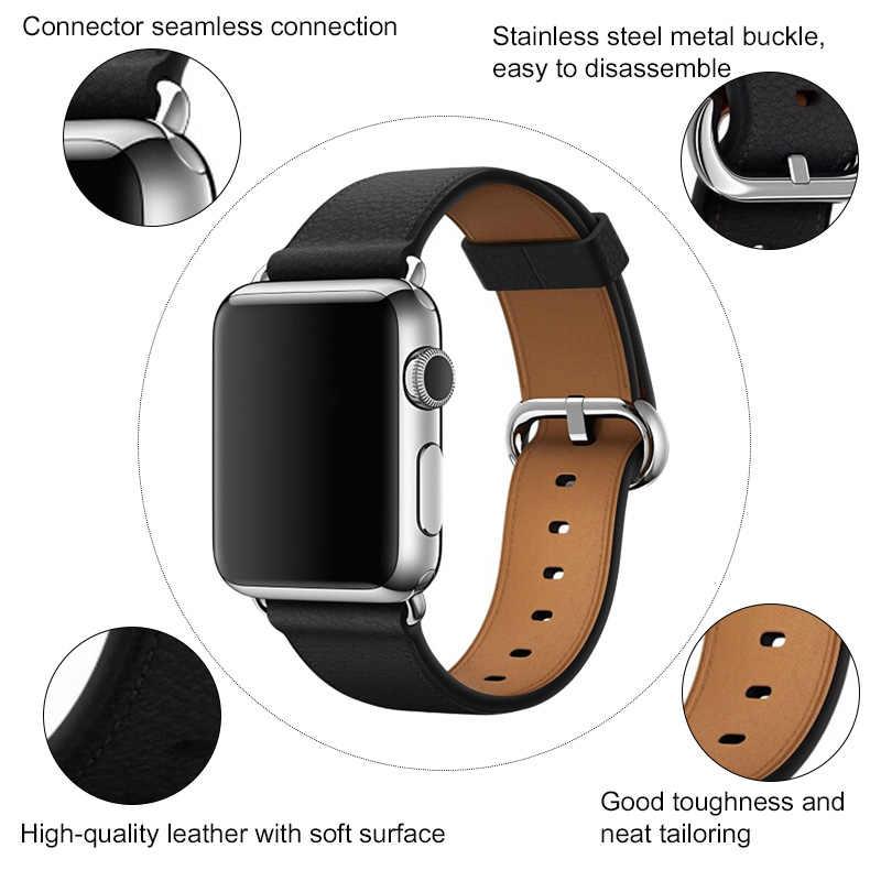 Correa dla apple watch 38mm 42mm 40mm 44mm serii 5 dla apple opaski do zegarka 44mm 38mm 40mm dla pasek do iwatch 42mm 38mm 40mm 44mm