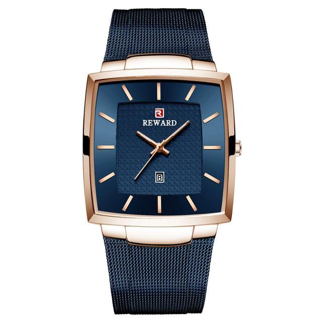 REWARD Fashion Watch Men Waterproof Slim Mesh Military Wrist Watches Men Quartz Sports Business Male Watch Relogio Masculino
