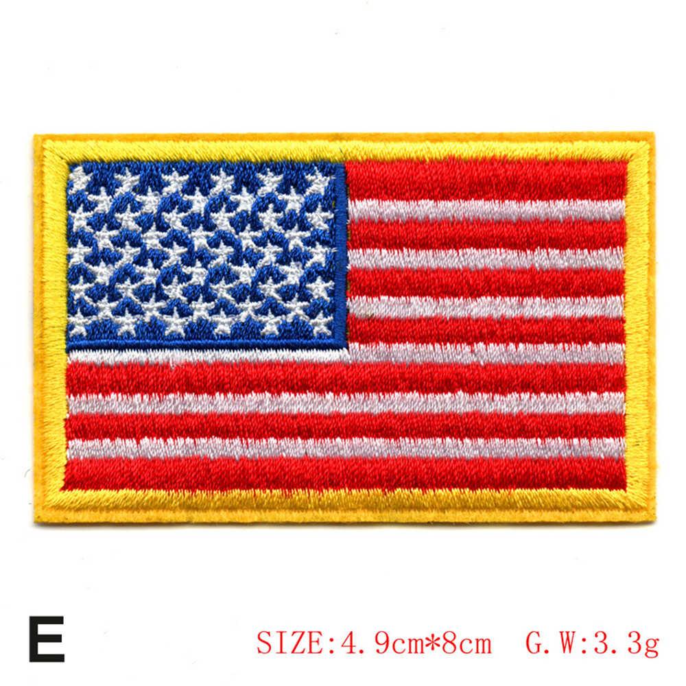 المطرزة موضوع العلم الأمريكي المطرزة التصحيح الوطنية USA العسكرية تكتيكات التصحيح فاسق نمط التصحيح الرجال الاطفال النساء ديكور