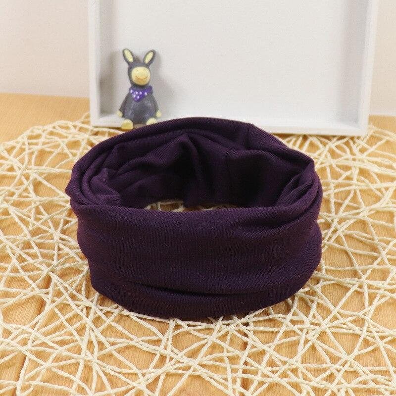 Милый хлопковый детский шарф, Детские однотонные осенне-зимние теплые шарфы с принтом, шарф с круглым вырезом для мальчиков и девочек - Цвет: 14
