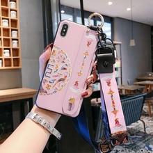 Wrist Strap Mobile Case For Huawei Honor 10 Lite 8X 9X V20 M
