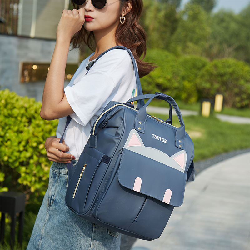 Large-Volume Convenient Mummy Backpack Upgrade Section Multi-functional Waterproof Oxford Cloth Bag Nursing Travel Anti-Theft Ba