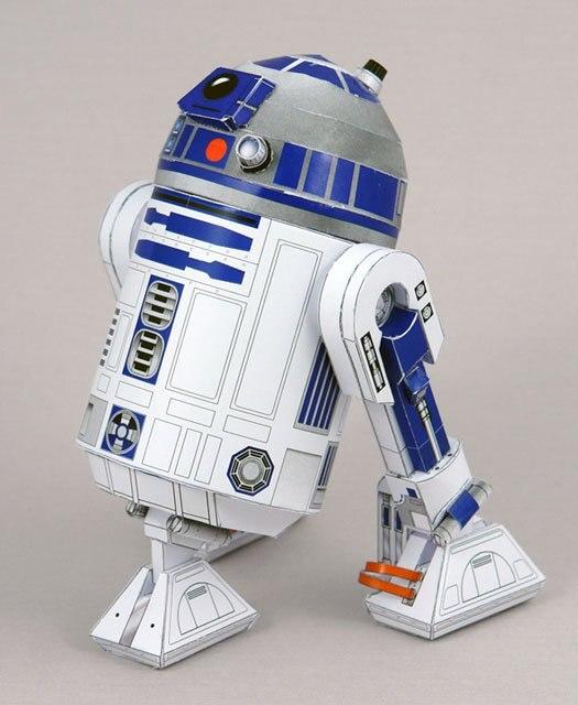 Star Wars Skywalker Robot R2-D2 Movie Craft Model 3D Paper Model DIY Assembled Handmade Toy