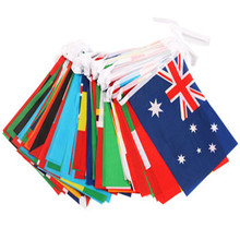 1 гирлянда, висящий флаг, футбол, футбол, 32 команды, Национальный флаг страны, флаг мира, флаги 14*21 см, гирлянда, флаг