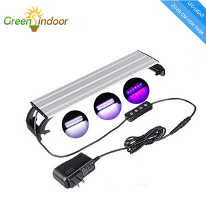 LED Aquarium Light Fish Tank Lamp 20-65CM With Timer and Dimming Indoor Fishing Led Aquatic Plant Lights Luminaria Aquario Light