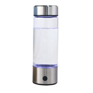 Image 1 - 일본 티타늄 품질 수소 풍부한 물 컵 Ionizer 메이커/발전기 슈퍼 산화 방지제 ORP 수소 병 420ml