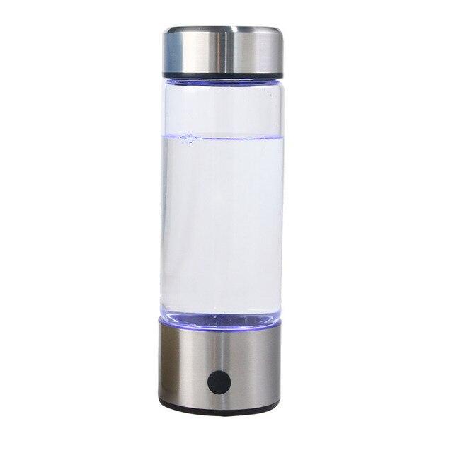 일본 티타늄 품질 수소 풍부한 물 컵 Ionizer 메이커/발전기 슈퍼 산화 방지제 ORP 수소 병 420ml