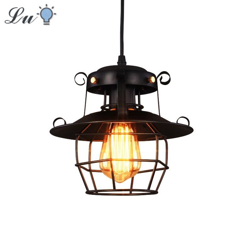 Nordic Vintage Pendant Light LED E27 Metal Industrial Lamp Attic Decoration Hanging Lamp Modern Decoration Hanging Ceiling Lamps