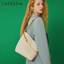 LAFESTIN Bag women 2020 new trendy fashion retro one shoulder messenger bag wild large capacity bucket bag2021High-quality brand