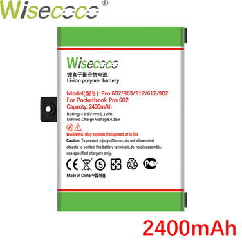 Wisecoco 2400mAh Battery For Pocketbook Pro 602/603/612/902/903/912/920 High Quality Battery+Tracking Number wisecoco bv9000 2pcs 7150mah new produced battery for blackview bv9000 bv 9000 pro high quality phone battery replace tracking