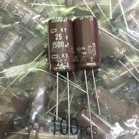 20 pces novo CHEMI-CON nippon ky 25v1500uf 12.5x25mm capacitor eletrolítico 1500 uf 25 v ncc 25 v 1500 uf eky250ec3152mk25s