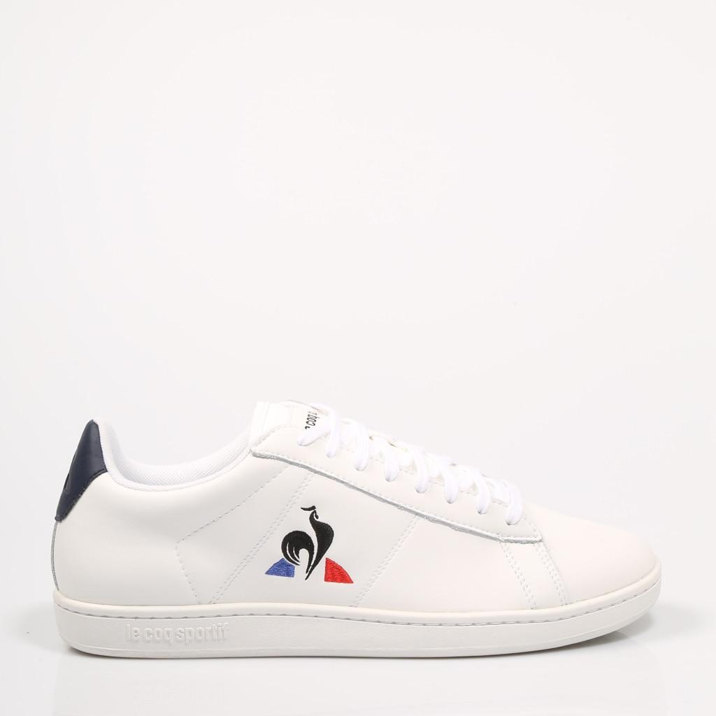 LECOQSPORTIF ZAPATILLAS COURSET WHITE 2010081 Blanco Piel Hombre – White SNEAKERS Man Shoes Casual Fashion 72347
