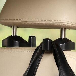 Image 2 - 1 ペア車のヘッドレストフックと電話ホルダーシートバックハンガーユニバーサル用バッグ財布布食料品車の車両バックシートホルダー