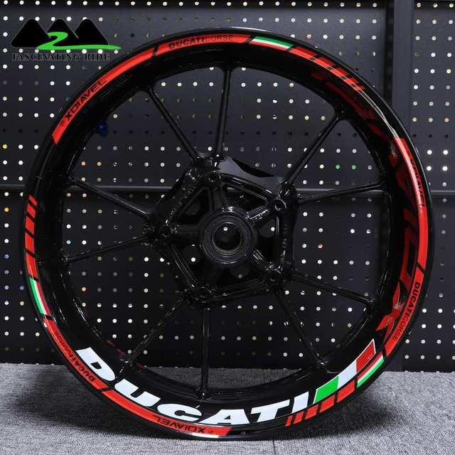 Ducati XDiavel 오토바이 방수 반사 스티커에 적용 가능 맞춤형 17 인치 휠