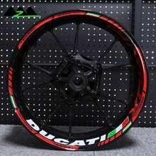 تنطبق على دوكاتي XDiavel دراجة نارية مقاوم للماء ملصقا عاكسة تجديد شخصية 17 بوصة عجلة