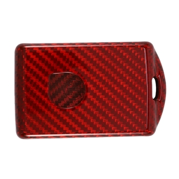 Premium Real Carbon Fiber Remote Red Key Fob Cover Fit for VOLVO XC40 XC60 XC90 S90 V90