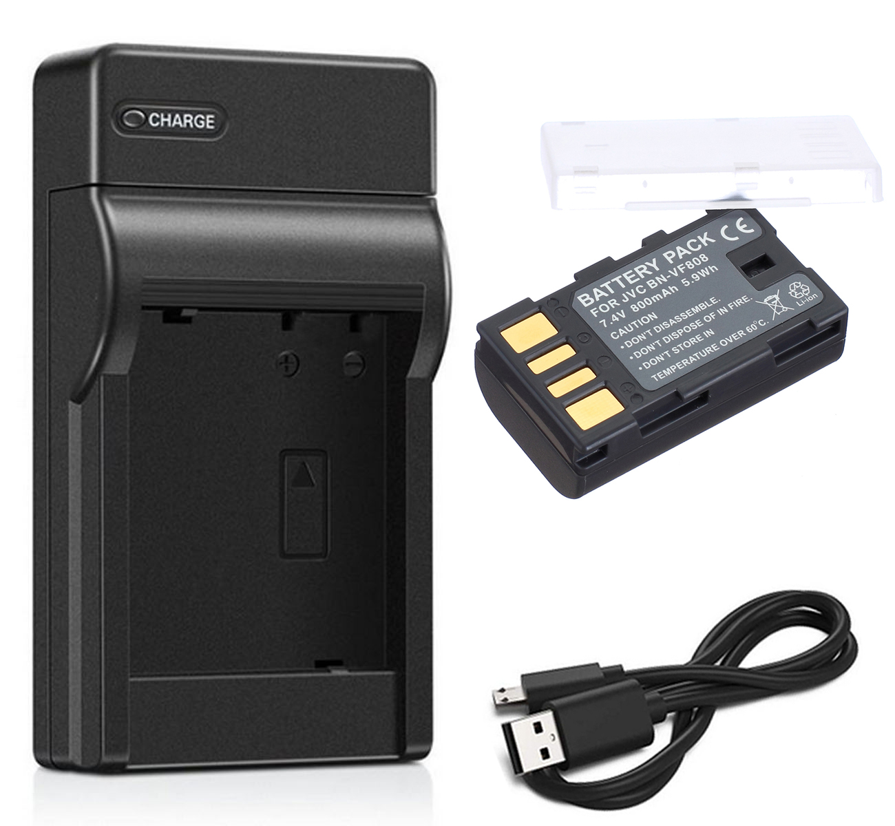GZ-HM200BUS GZ-HM200AU Battery 2 Pack and LCD USB Battery Charger for JVC Everio GZ-HM200 GZ-HM200RU GZ-HM200BU GZ-HM200RUS Camcorder GZ-HM200AUS