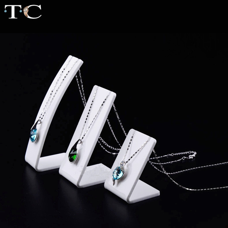 Acrylic Pendant Jewellry Display Stand Necklace Holder Jewelry Display Stand For Exhibition Shelf Jewelry Photography Props