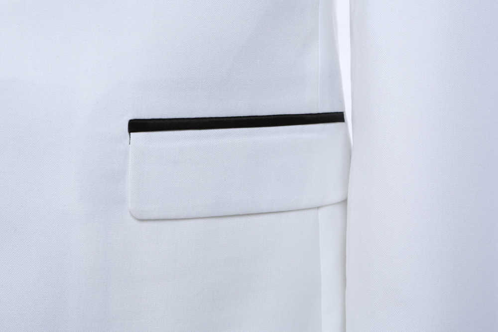 DARO Männer Anzug Hochzeit Bräutigam Smoking Blazer Neue Stil Slim Fit Jacke hose 2 Stück Weiß Schwarz Blau Kleid Zugeschnitten DR8858