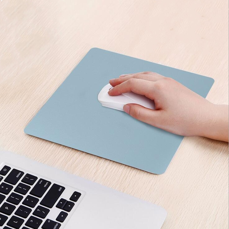 26X21CM Anti-slip Mouse Pad Leather Desk Pad Mousepad For Home Office Laptop