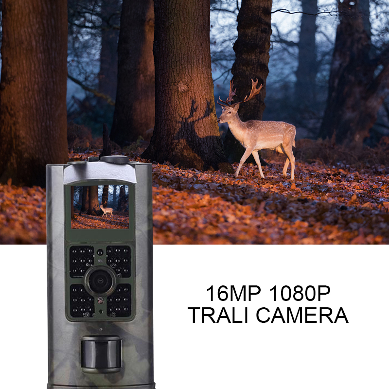 Trail Camera Outddor 16MP 1080P HC700A Hunting Cameras Photo Trap Night Vision Scout Wild Animal Wireless Surveillance