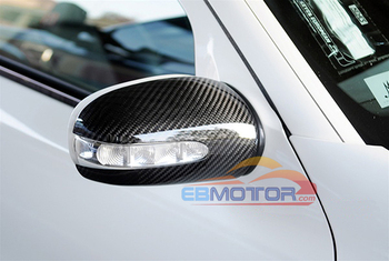 Real Carbon Fiber Mirror cover 1pair for Benz C-Class W203 2001-2006 M097M 1