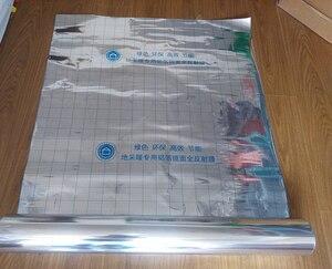 Image 3 - 100m2 السفينة حرة توفير الطاقة الألومنيوم احباط العزل مرآة انعكاس الفيلم للكهرباء نظام تدفئة تحت الأرض