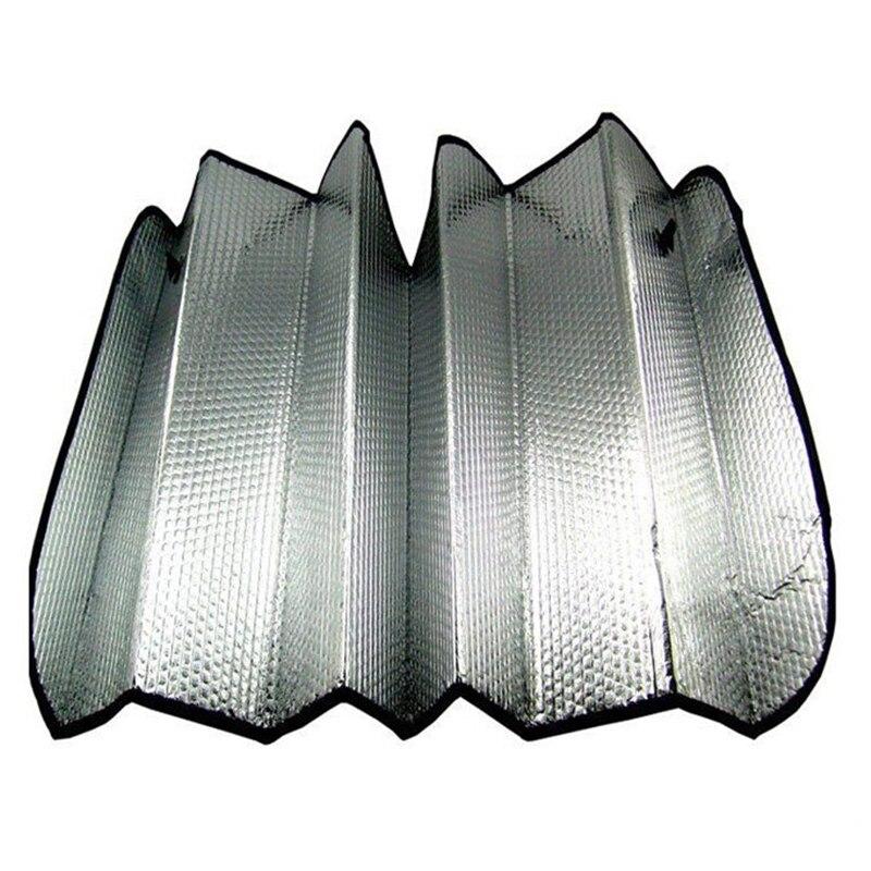 Car styling 130*60cm Window Foils Windshield Sun Shade Car Windshield Visor Cover Block Front Window Sunshade Protect Car