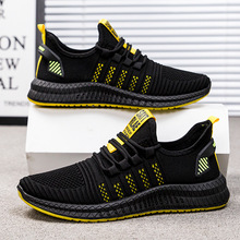 Fashion Sneakers Men Casual Shoes Flyknit Mesh Breathable Lace-Up Low-cut Spring Autumn 2020 Zapatos De Hombre High Quality spring autumn men casual shoes fashion sneakers men flyknit breathable run shoes lace up zapatos de hombre outdoor shoes men