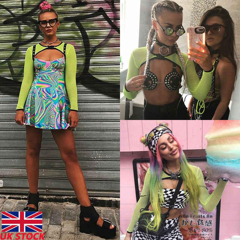 Las mujeres de malla pura tanque Top de rejilla de hueco Tops verde Floral de Color de ropa de gran tamaño tee camisa Mujer
