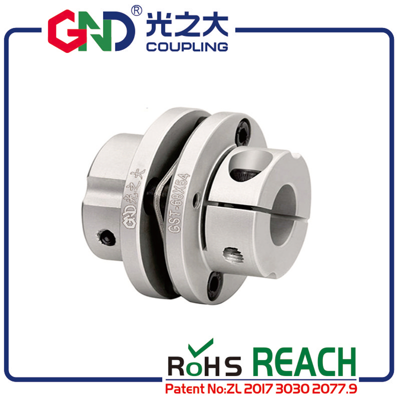 GND <font><b>coupling</b></font> Aluminum single section keyway flexible coupler diaphragm steps clamp series for high speed operation image