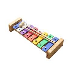 13 sztuk gładka przedszkole drewniane drewniane dom rodzinny Instrument wczesna edukacja muzyczne instrumenty perkusyjne zestaw zabawek dla dzieci szkolenia nauczania w Bęben od Sport i rozrywka na